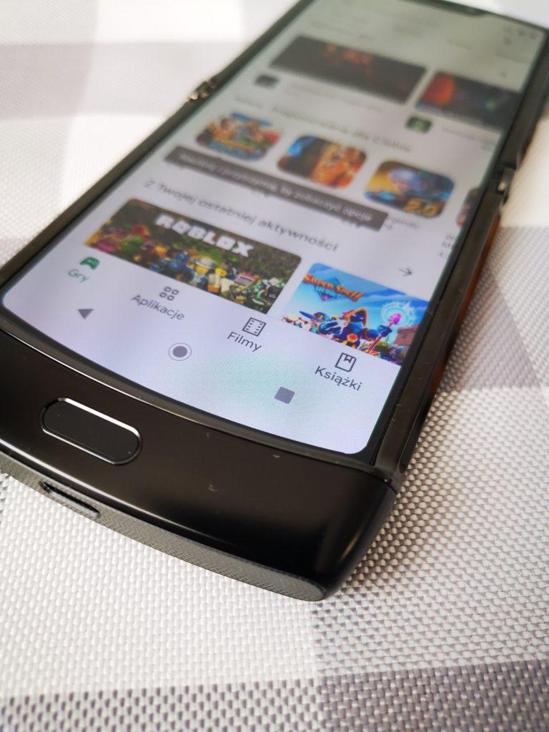 Motorola Razr czytnik linii papilarnych