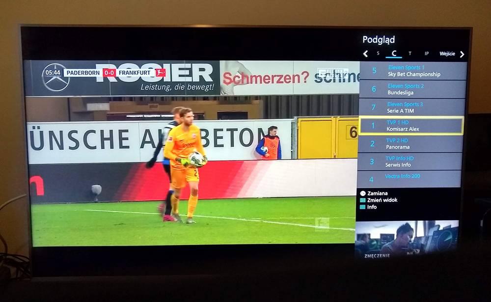 menu na ekranie telewizora panasonic