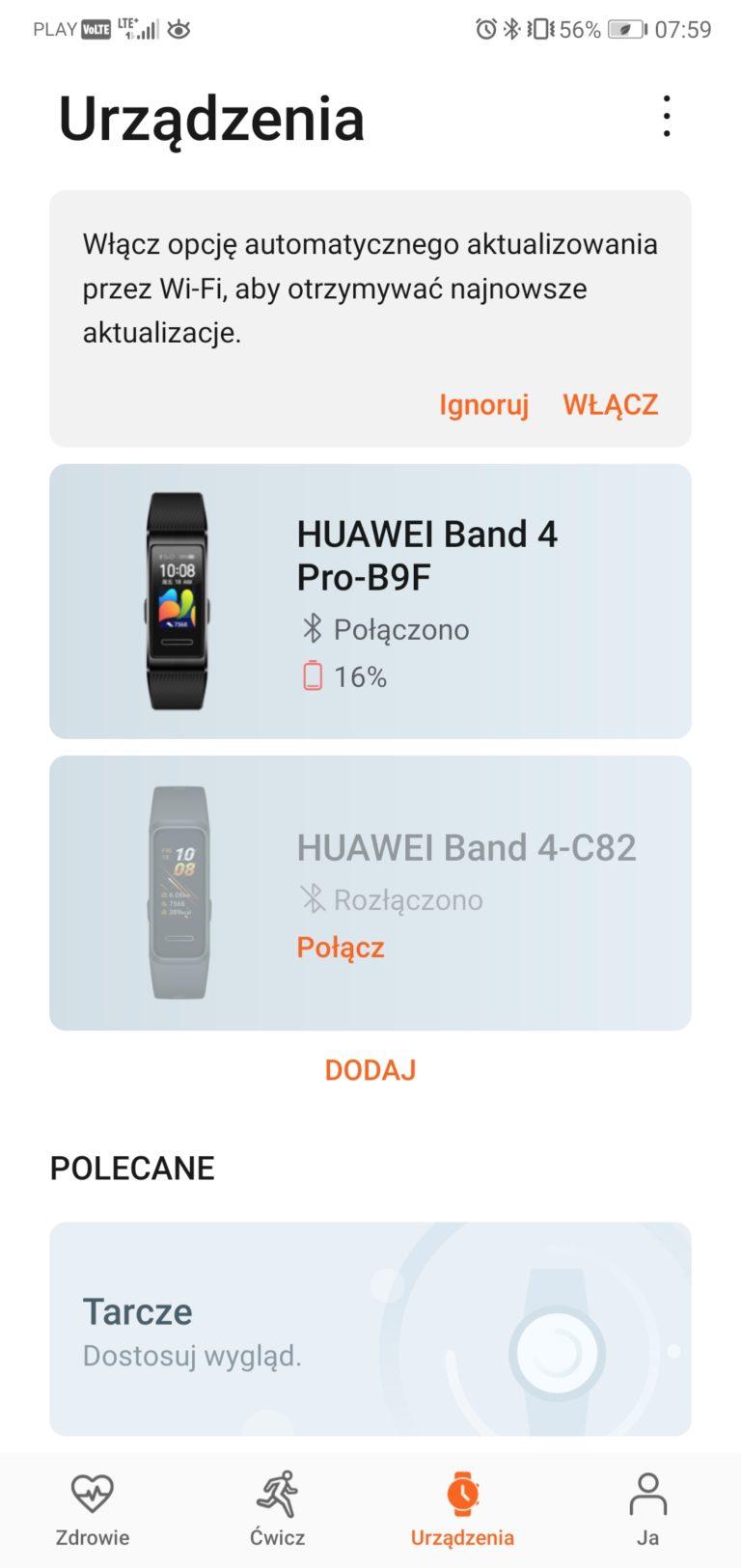 huawei band 4 pro aplikacja