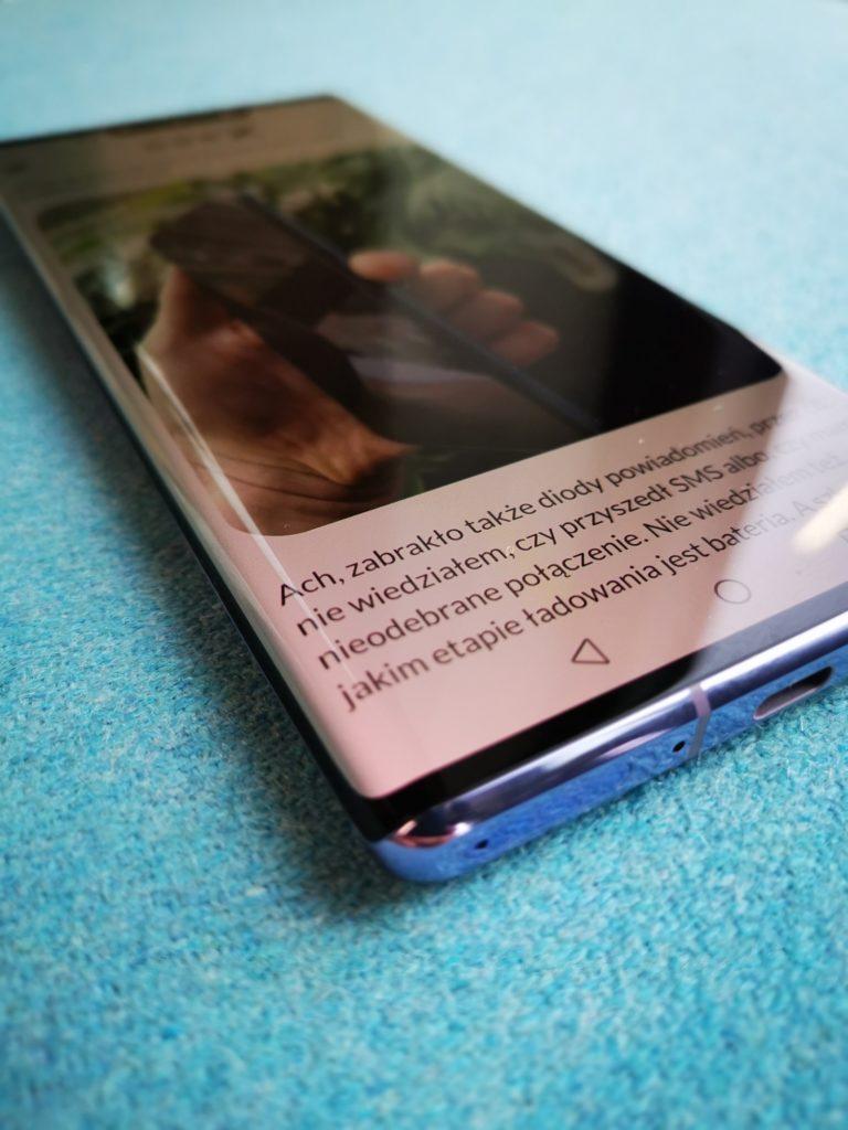 Zakrzywienie ekranu Huawei Mate 30 Pro