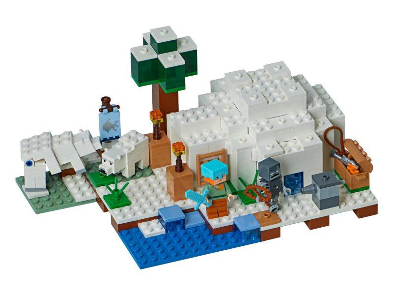 LEGO Minecraft Igloo niedźwiedzia polarnego