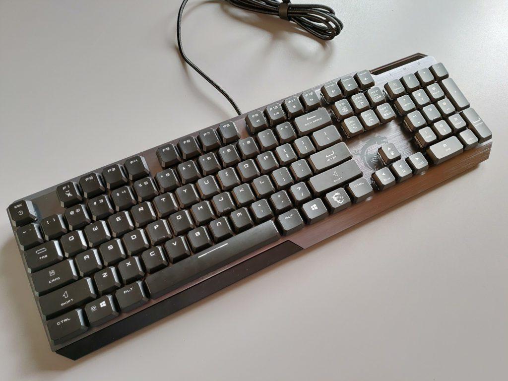 MSI VIGOR GK50 LOW PROFILE klawiatura bez rgb od góry