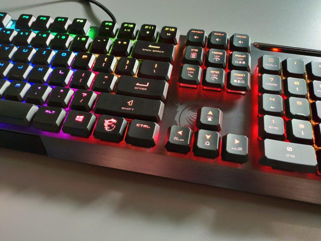 MSI VIGOR GK50 LOW PROFILE klawisze funkcyjne klawiatury