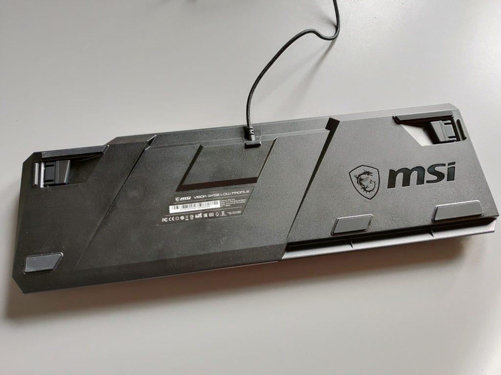 MSI VIGOR GK50 LOW PROFILE dół klawiatury