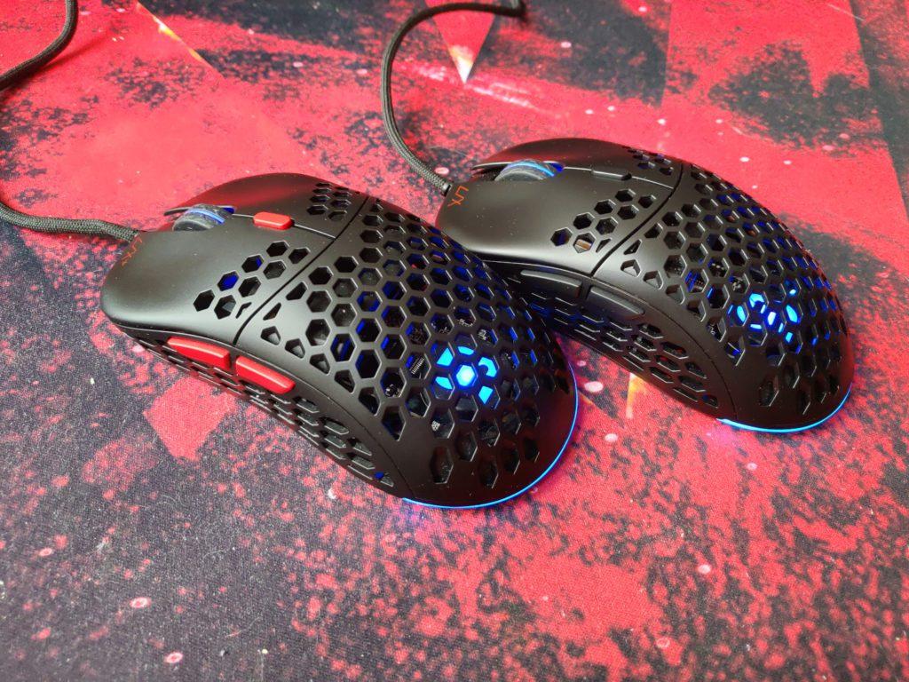 SPC Gear LIX i LIX Plus myszki bokiem z włączonym RGB