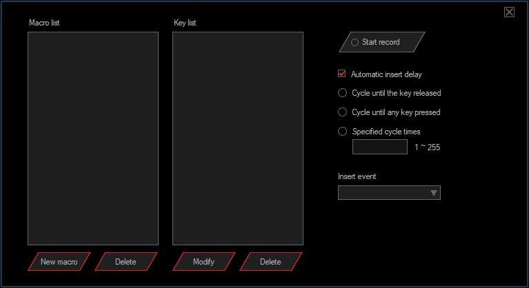 SPC Gear Lix Plus Oprogramowanie okno do edycji makr
