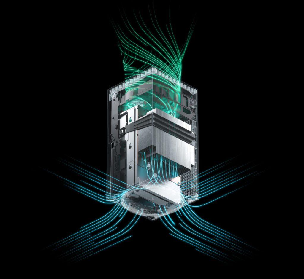 Xbox series X system chłodzenia konsoli