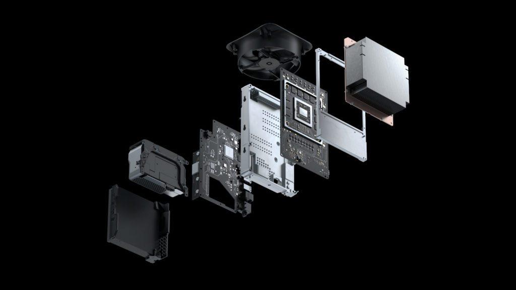 Xbox series X wnętrze konsoli