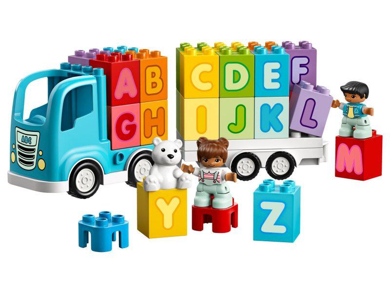 ciężarówka z alfabetem LEGO