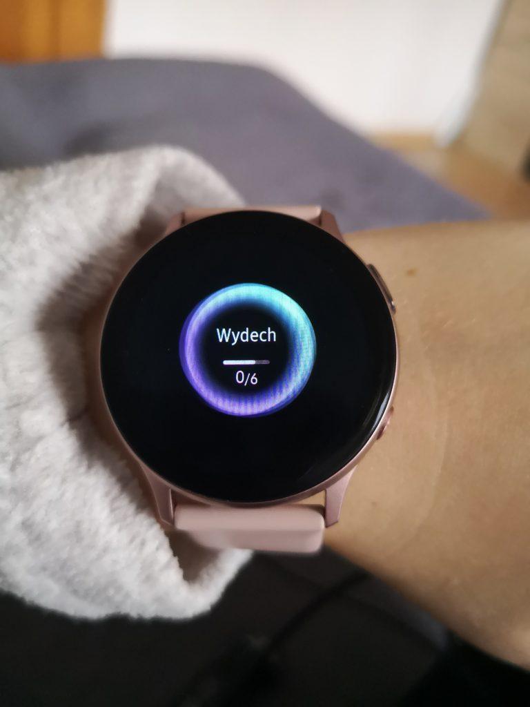 pomiar stresu Galaxy Watch Active 2 recenzja