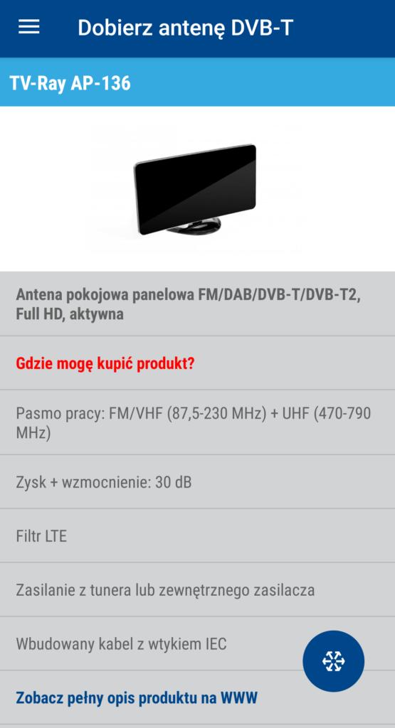 aplikacja dobierz antenę dvb-t