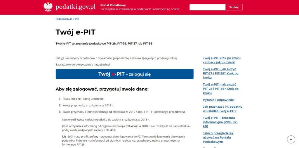 Jak rozliczyć PIT przez internet