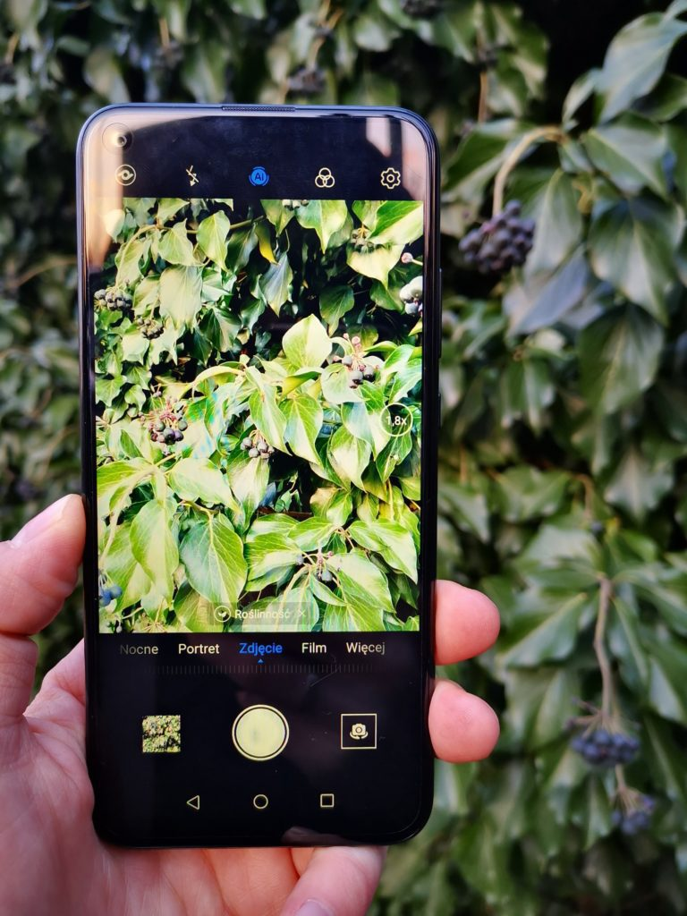 Huawei P40 Lite E robi zdjęcie