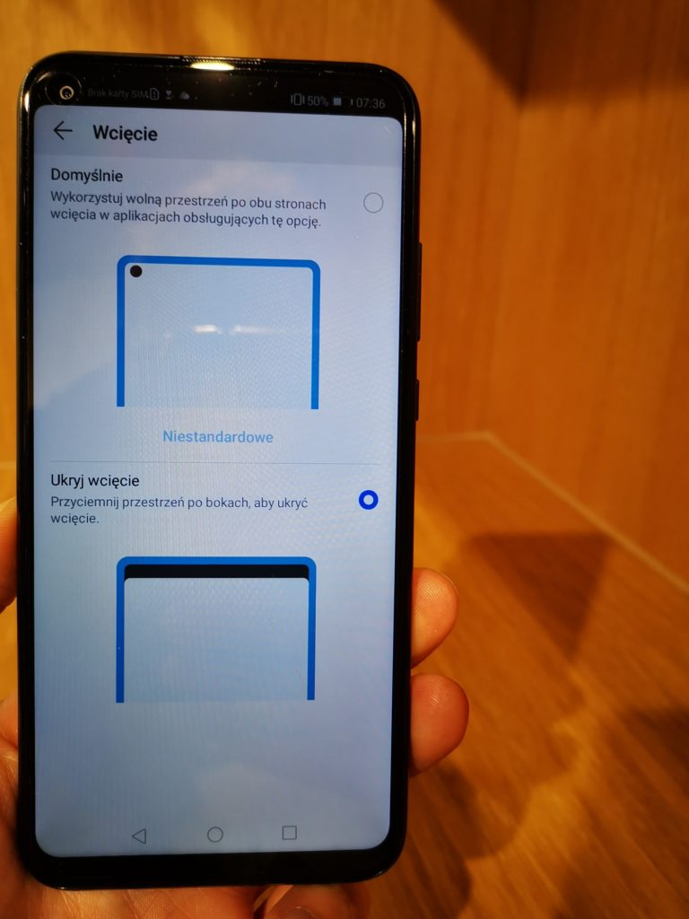 Huawei P40 Lite E opcje ekranu