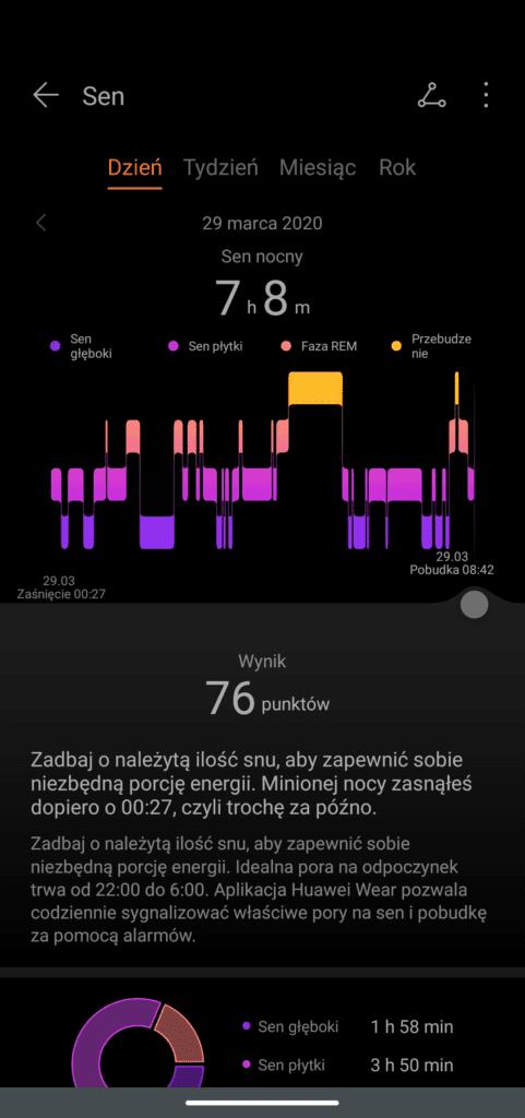 magic watch 2 pomiar snu aplikacja