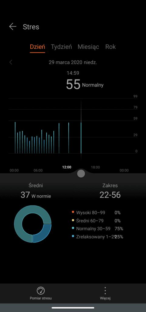 magic watch 2 pomiar stresu aplikacja