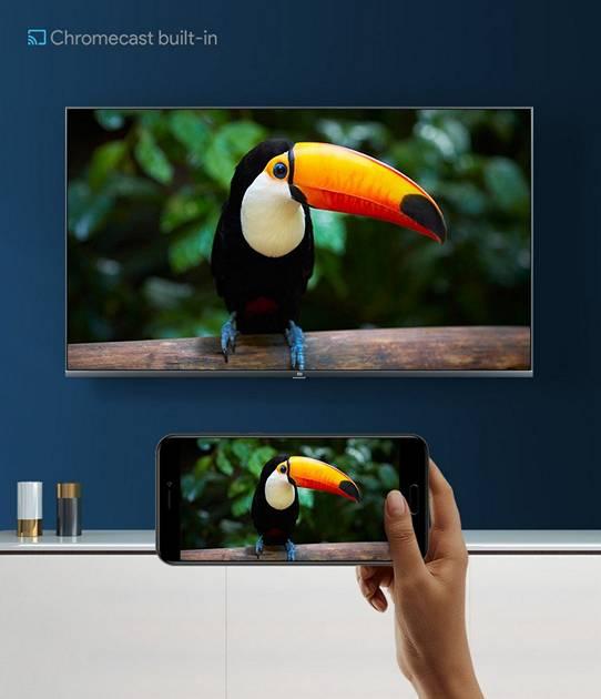 tukan na ekranie telewizora xiaomi