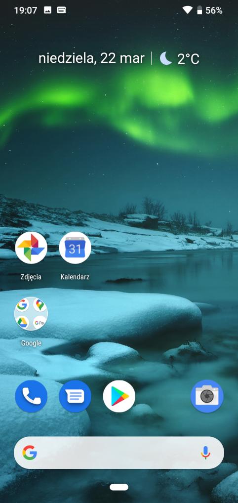 Nokia 2.2 ekran główny