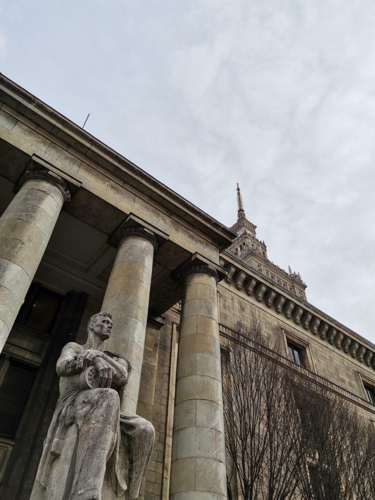 P40 Lite zdjęcie pałacu kultury i nauki w Warszawie