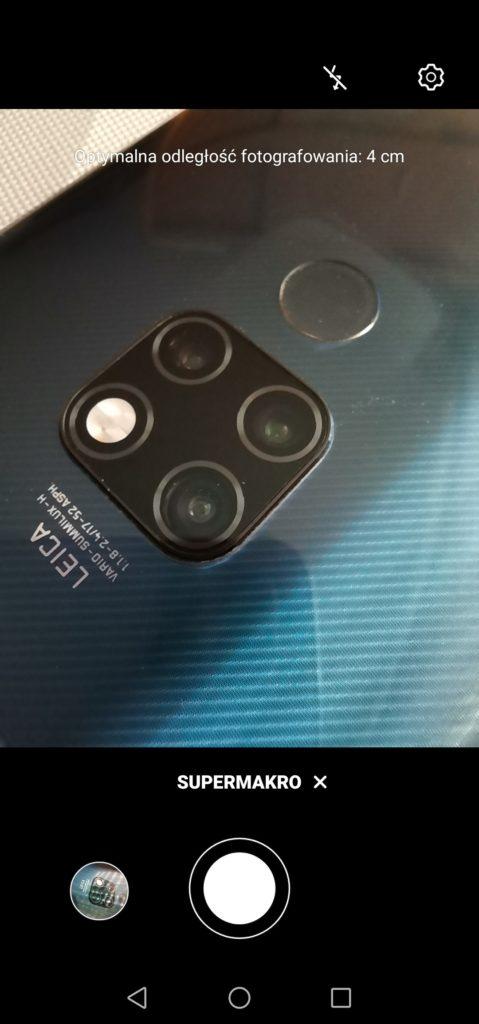 P40 Lite zdjęcie makro z 4 cm