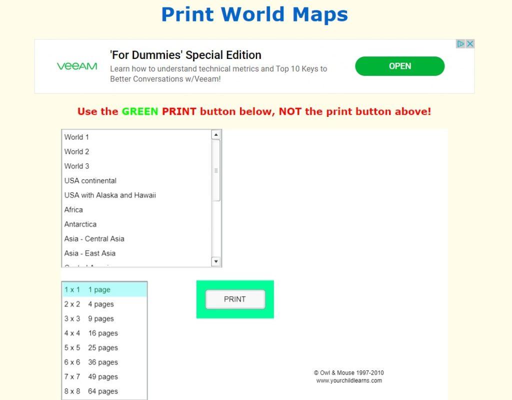 mapy do druku