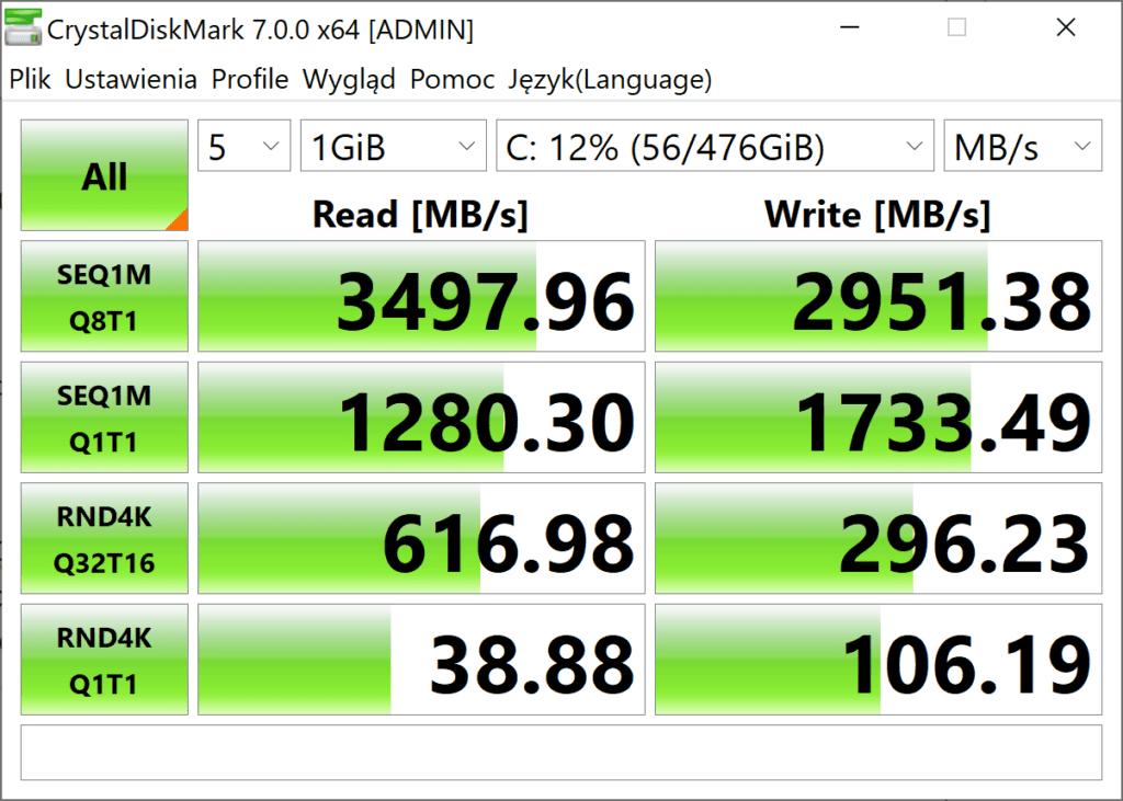 HP spectre x360 dysk SSD