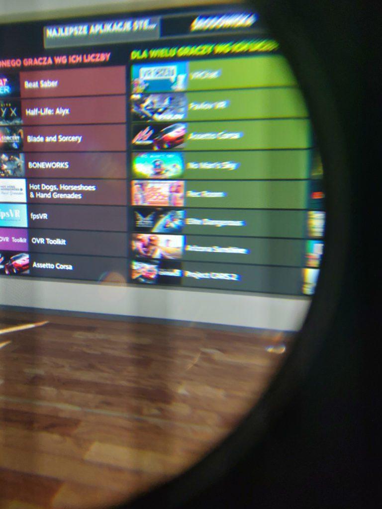 HTC VIVE Cosmos Elite rozmycie obrazu soczewek