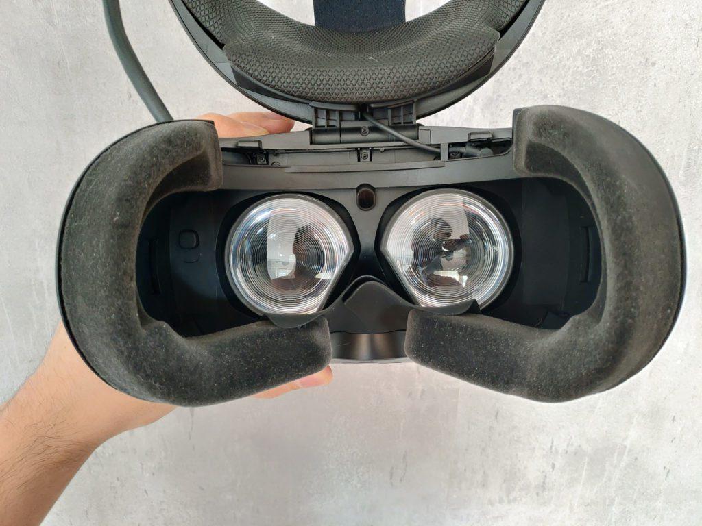 HTC VIVE Cosmos Elite wnętrze okularów