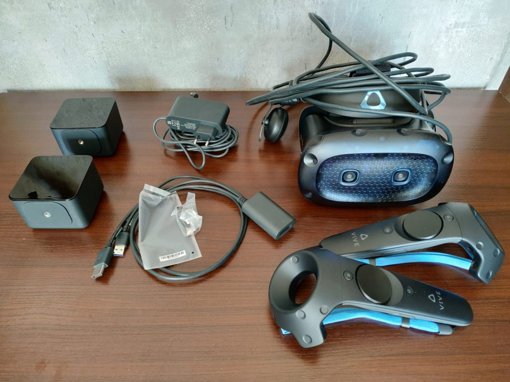 HTC VIVE Cosmos Elite zawartość opakowania pudełka