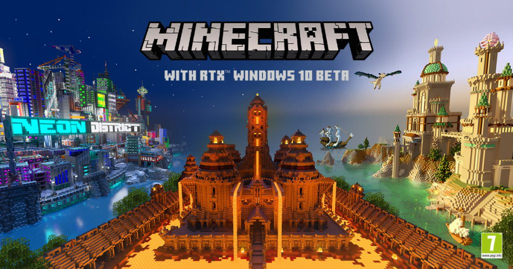 Minecraft RTX beta baner