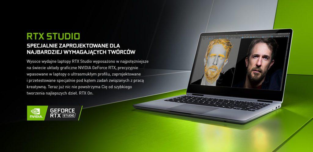 NVIDIA RTX Studio w laptopach do pracy