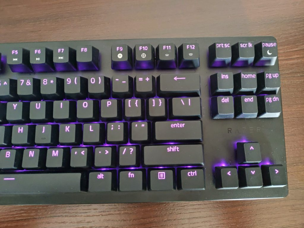 Razer Huntsman Tournament Edition podświetlenie klawiatury