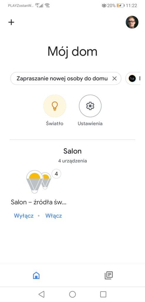 Asysten Google i Aplikacja Philips Hue