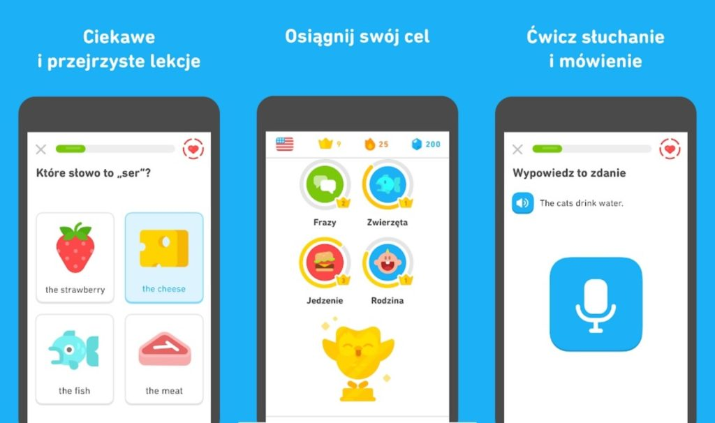 aplikacja Duolingo