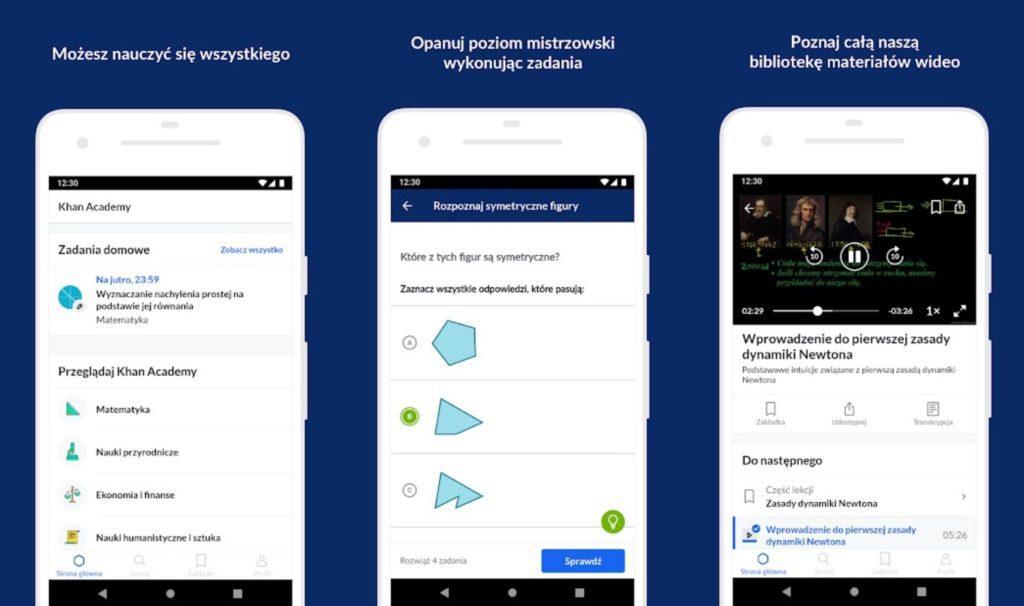 aplikacja Khan Academy