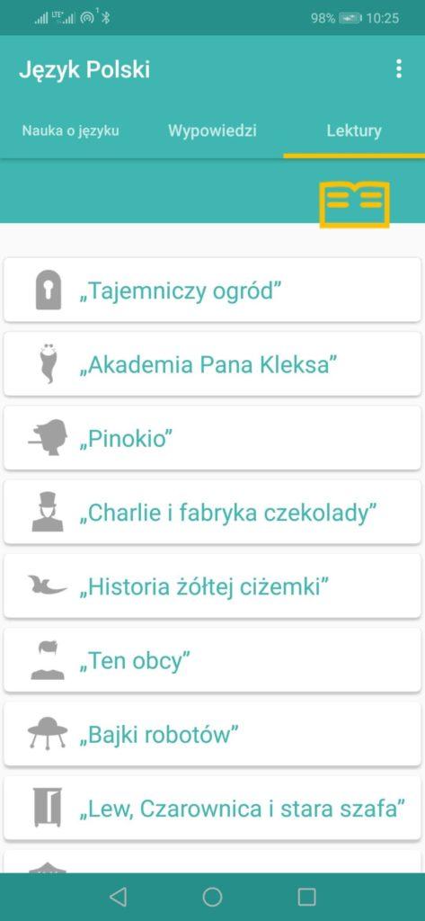 aplikacja j.polski lektury