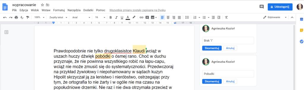 edycja dokumentu