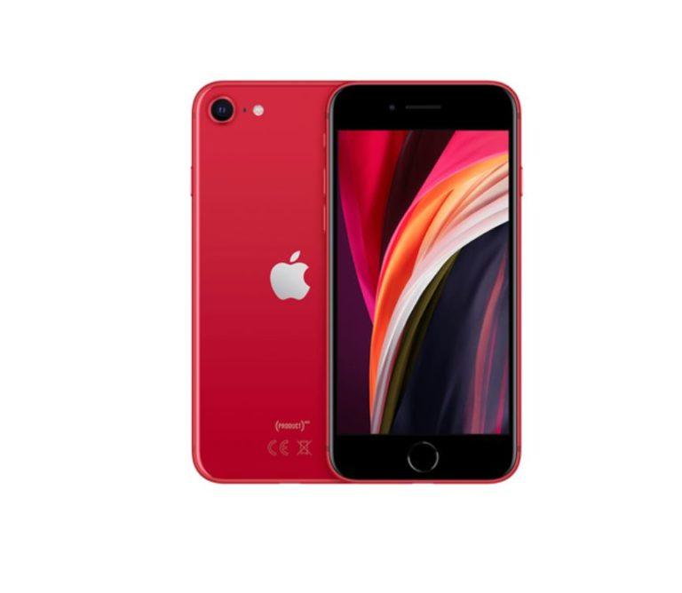 czerwony iphone se