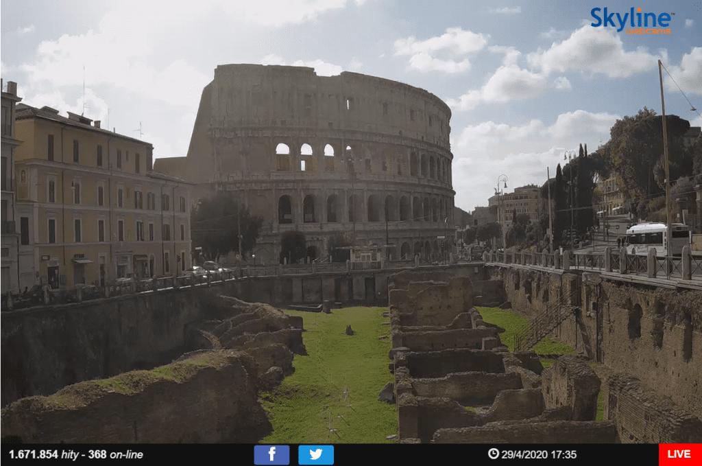 kamera on-line z Rzymu