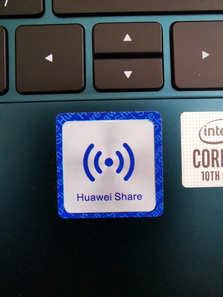 MateBook X Pro 2020 naklejka Huawei Share