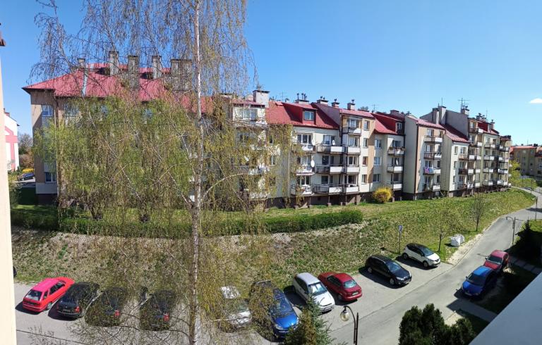 Panorama Realme 6 widok na domy