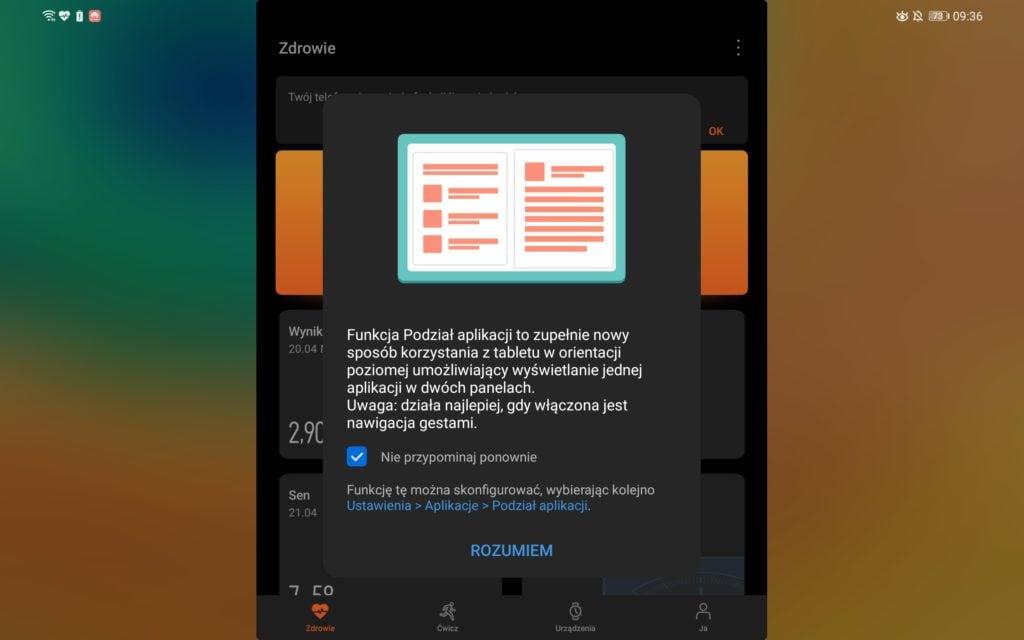 huawei dwa ekrany aplikacji