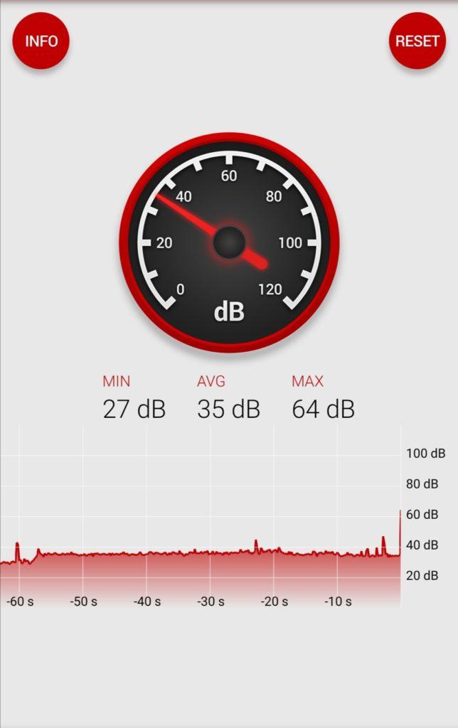 Pomiar głośności pracy MateBook X Pro 2020
