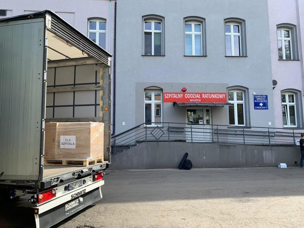Sprzęt warty 400 tysięcy złotych na częstochowskich szpitali od x-komu
