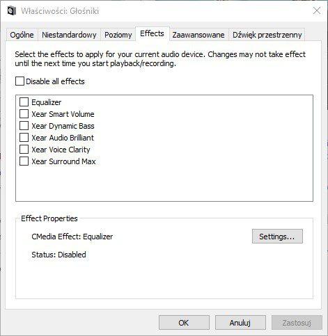 Oprogramowanie Mad Catz Freq 4 opcje