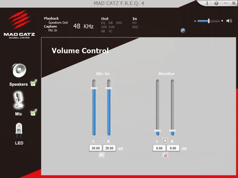 Oprogramowanie Mad Catz Freq 4 mikrofon opcje