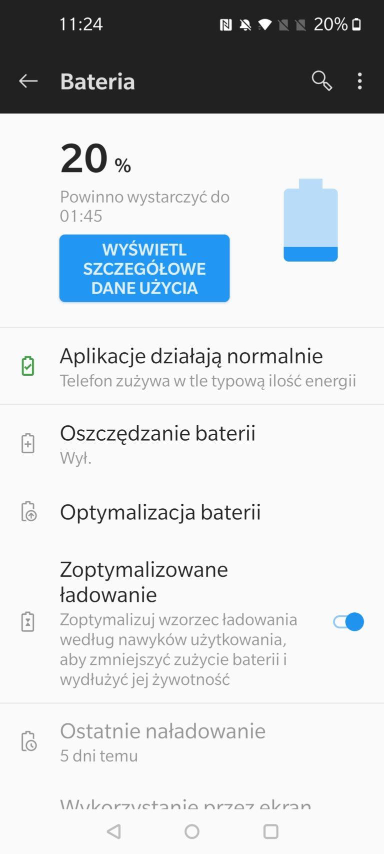 Bateria w OnePlus 8