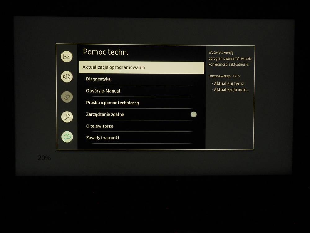 aktualizacja automatyczna telewizora samsung