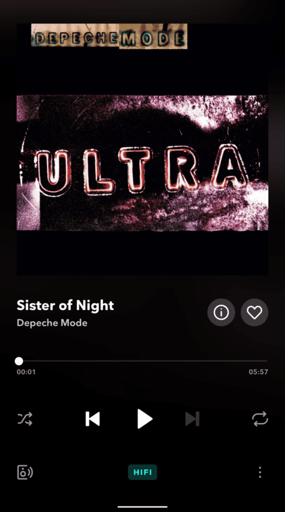 depeche mode - ultra, okładka z tidala