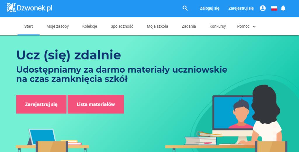 ucz zdalnie z dzwonek.pl